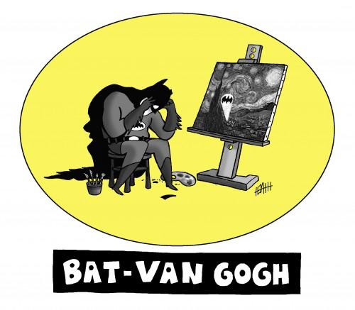 bat van gogh shirt
